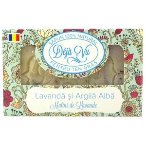Sapun natural pentru ten gras cu lavanda si argila alba