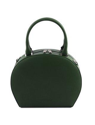 Geanta eleganta dama din piele naturala verde Tuscany Leather, Ninfa